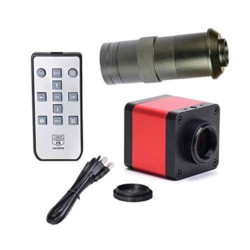 HYY-YY LCD Digital HAYEAR 48 MP 1080P 100X Cámara Microscopio Full HD con HDMI USB2.0 Dos salidas Auto/Manual Control Remoto con Cable USB