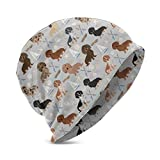 Doxie Coastal Dogs At The Coast, Summer, Sand Dollar, Beach Design Gre Winter Hats Warm Gifts for Boys and Girls