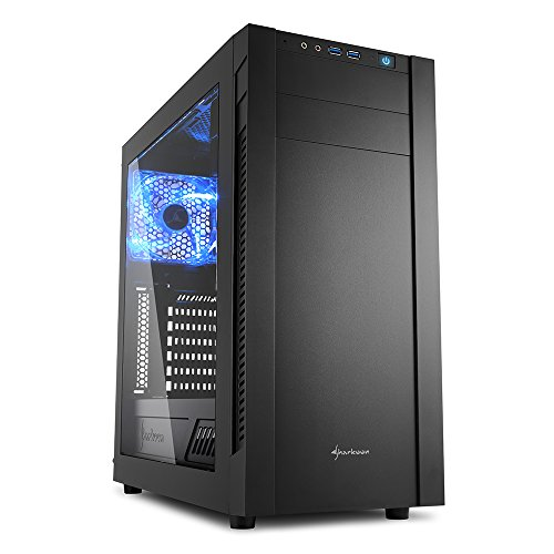 Sharkoon s25-w - Caja de Ordenador, pc Gaming, semitorre ATX, Negro.