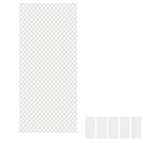 PAPILLON 8091560 Celosia PVC Fija Blanco Set 5 Piezas de 2 x