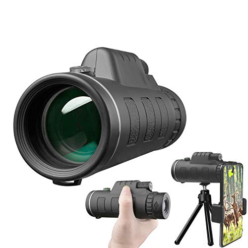Monocular Telescope, High Power Monocular with Smartphone Holder,BAK4 Prism for Bird Watching Hunting Camping Travelling Wildlife