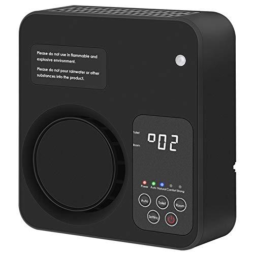 LSD Purificador de Aire para el hogar, generador de ozono Ionizador de Aire Desodorizador de eliminación de olores para ahumador, Polvo, Mascotas, bacterias, olores y Cocina(Negro)