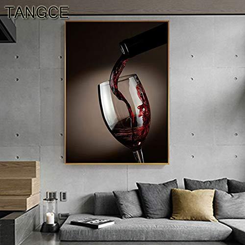 baodanla Kein Rahmen Pop-Art ng, Weinglas Leinwand HD, Bar Öl ng, Drucken Wohnzimmer, Korridor Restaurant Wallpaper50x70cm