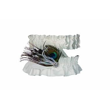 Ivy Lane Design Peacock Collection Garter Set, White