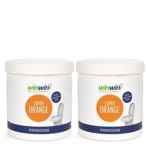winwin clean Systemische Reinigung - Super Orange Reinigungsschaum/WC-Schaum 1kg I Sonderpreis NUR FÜR Kurze Zeit