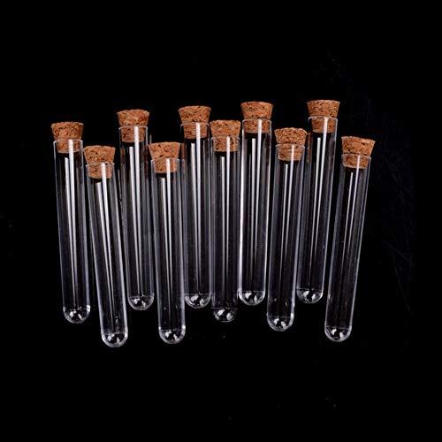 quanju cheer Tubo De Ensayo De Plástico Rígido De 10 Piezas con Tubo De Ensayo Sin Corcho Tubo Sellado Pin Vial Botella De Contenedor De Muestra 15 * 150 mm