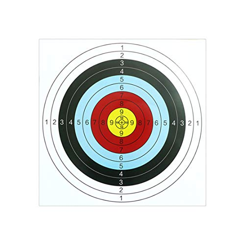 Mikelabo Soft Archery Target Archery & Crossbow Paper Target Faces Archeryrecurvebow Archery Target Board 60 * 25cm 20 Sheets With 2 Archery Target Pins