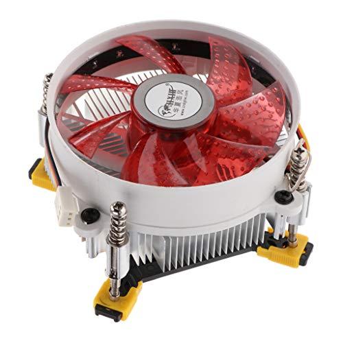 IPOTCH Ventilador de Tubo Enfriador de CPU Hidráulico Fregadero de 12 Cm para LGA 775/115
