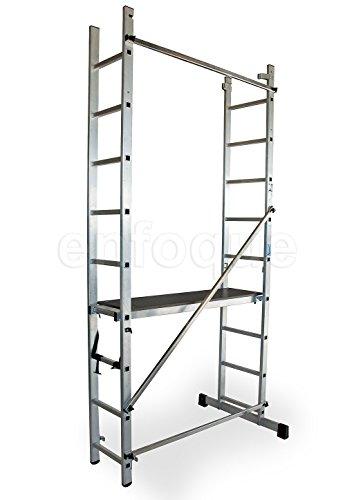 ALTIPESA Escalera - andamio Profesional de Aluminio 2x9 peld