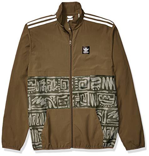 adidas Originals Men's Dakari CA Jacket, raw khaki/night cargo/white, X-Large