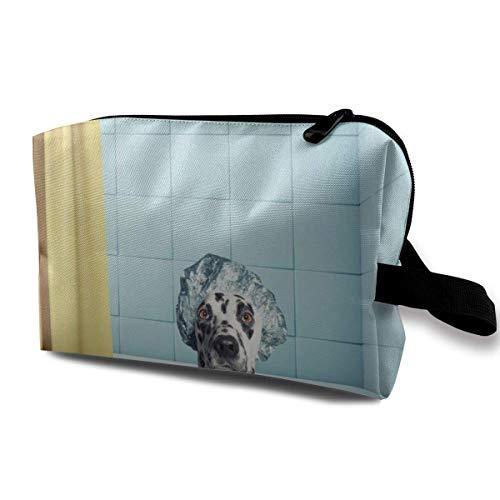 Bolsa de maquillaje con diseño de gato en una bañera para mujeres,...