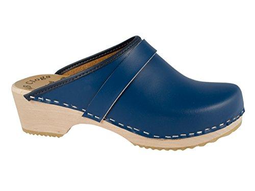 MB Clogs Original Schwedenclogs Gr. 34 – 46, Blau I Clogs aus Holz Klotschen Holz Pantoletten Herren Damen Holzschuhe Klogs Schweden Schuhe I Clogs Holzsohle Gartenschuhe Holzabsatz