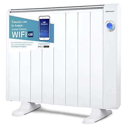 Orbegozo RRW 1500 - Emisor térmico bajo consumo Wi-Fi, 1500 W, pantalla digital LCD, programable, conexión inalámbrica...