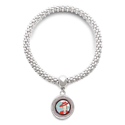 DIYthinker dames rood garment Spaans illustratie sliver armband loopende hanger sieradenketting