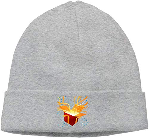 Voxpkrs Adult Skull Cap Beanie Gift Box Knitted Hat Headwear Winter Warm Hip-hop Hat Cool 33380