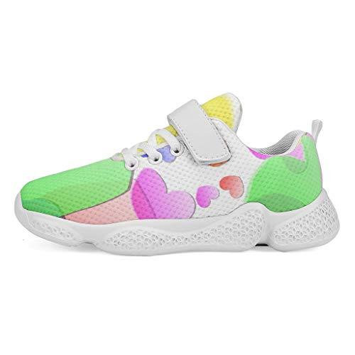 YxueSond - Zapatillas deportivas transpirables con forro de malla transpirable para escalada, caminar, correr, zapatos para niños, Infantil, blanco, 33