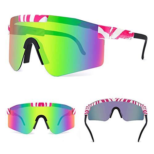 Gafas deportivas polarizadas Protección UV400, gafas de sol para exteriores, gafas de sol deportivas para ciclismo a prueba de viento para ciclismo al aire libre de alta velocidad, motocicleta, correr