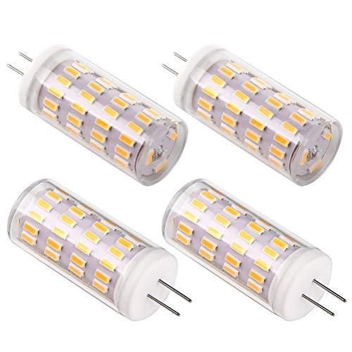 G4 Led 12v 5w Ampoule, Bsxywa AC/DC 12V Ampoules d'éclairage équivalent à 40W halogène, 400LM, Blanc Chaud 3000K, Non dimmable, Remplacement Pour Hotte Et Lusture, Lot de 4.