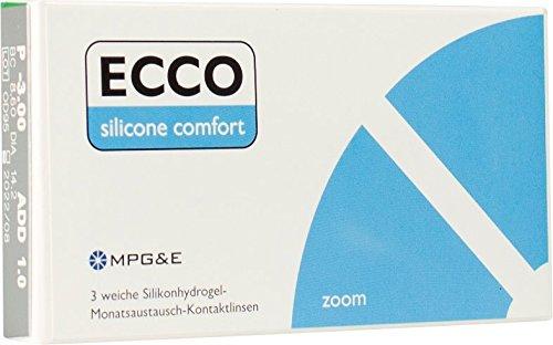 Ecco Silicone Comfort zoom multifokale Monatslinsen for Presbyopia weich, 3 Stück