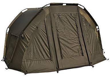 Carpline24 Angelzelt Economic I robustes 2-Mann-Bivvy I leichter Aufbau I 2-Personen Kuppel-Zelt Camping Pop-Up-Tent I Karpfenzelt wasserdicht 10.000mm Wassersäule I 300x300x155cm nur 7kg