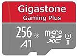 Gigastone Carte microSD 256 Go UHS-I U1 Classe 10 SDXC avec Adaptateur SD. Vitesse de Lecture allant jusqu'à 95 Mo/s. Compatible avec Nintendo Dashcam GoPro Caméra Samsung Canon Nikon DJI Drone