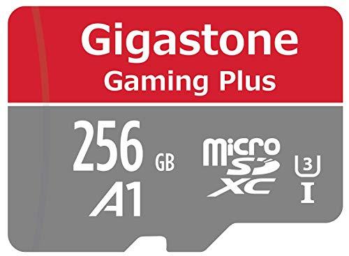 Gigastone Tarjeta de Memoria Micro SDXC de 256GB con Adaptador, Clase 10, U1, A1.Lectura/Escritura Rendimiento hasta 95/35 MB/s. Adecuado para Móvil y Switch etc.