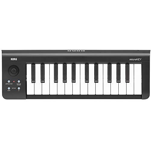 KORG microKEY2 25 Keyboard, 25 Tasten, schwarz, Controller, MIDI-Keyboard für Musik- und Studioproduktionen