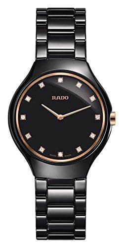 Rado Reloj Cuarzo 30mm Correa de cerámica Color Negro Caja de R27742722