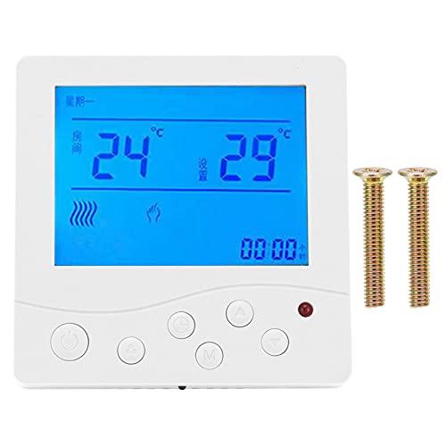 GAESHOW Fan-coil Termostato de aire acondicionado central Controlador de temperatura LCD inteligente Interruptor de termostato AC220V