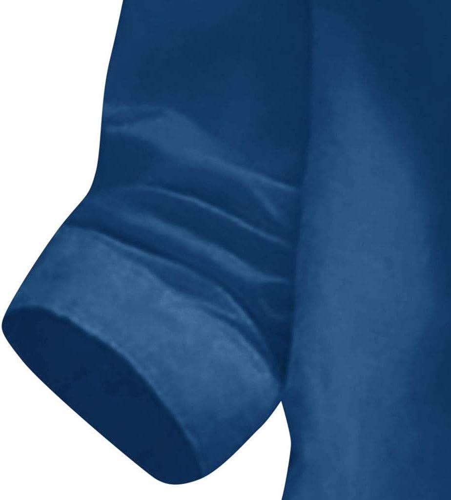NPRADLA 2019 Damen Casual Button Plus Size Baumwolle Tops T Shirt Mit Kapuze Tasche Lose Bluse Z-marine