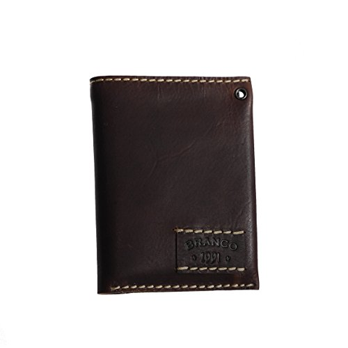 BRANCO - luxe leer heren portemonnee, portemonnee, portefeuille, portemonnee, Man's Wallet, beste kwaliteit - met extra brede naden passend bij moderne jeans - gepresenteerd door ZMOKA®