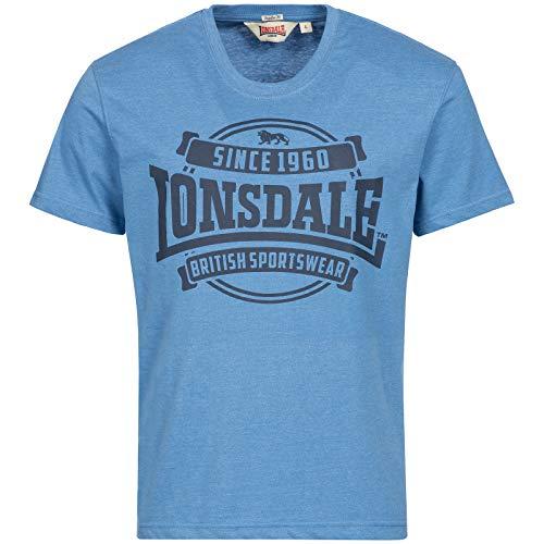 Lonsdale Necton T-Shirt, Marl Blue, L Homme