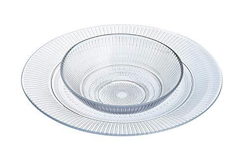 Luminarc Servizio piatti per 12 persone,36 pezzi in vetro trasparente modello Louison