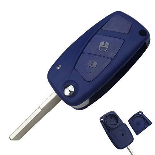 Carcasa llave para Fiat Panda Bravo Qubo Grande Punto Idea Stilo   2 Botones   Mando a distancia