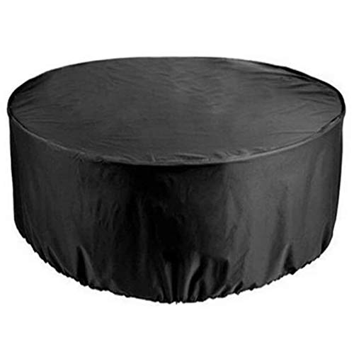 Garden Furniture Covers AMXHH Round, 420D Heavy Duty Oxford, Waterproof Heavy Duty Patio Table Covers, Dust-Proof Anti-UV Outdoor Tables And Chairs Combination Cover, 15 Sizes