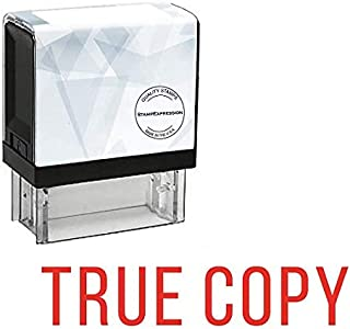 StampExpression - True Copy Office Self Inking Rubber Stamp - Red Ink (A-5102)