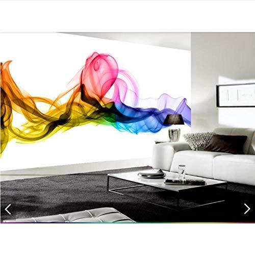 Wzxzf Europäische Hand, Die Bunte Rauch-Tapeten-Wandgemälde Für Das Wohnzimmer 3D Druckte Fototapeten-Tapeten-Gewohnheit Malt-140Cmx100Cm