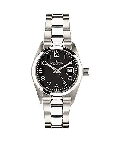 Uhr Mondia Uhr Damen Quarz–Ziffernblatt Schwarz mit arabischen Zahlen Cod: mi614–4BM