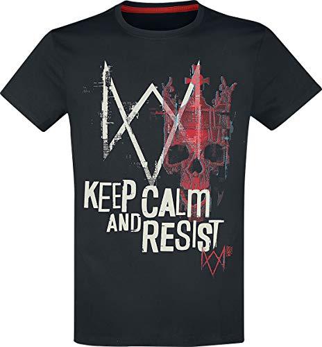 Watch Dogs T Shirt Legion Keep Calm and Resist Logo Nuevo Oficial De Los Hombres Size M