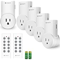 5-Pack Etekcity ZAP 5LX Wireless Remote Control Outlet Switch