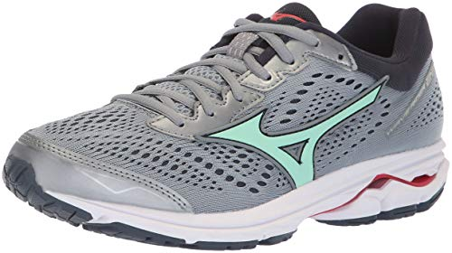 Mizuno Women's Wave Rider 22 Running Shoe, Trade Winds/Teaberry, 9 B