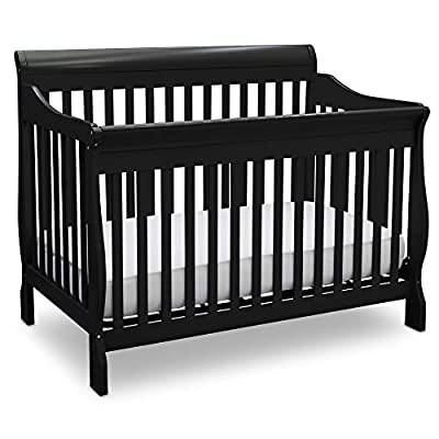 Delta Children Canton 4-in-1 Convertible Crib - Easy to Assemble, Black by Delta Children's Products