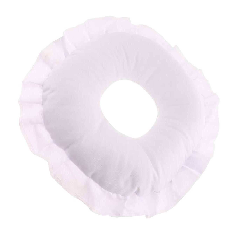 CUTICATE 全3色 フェイスピロー 顔枕 マッサージ枕 マッサージテーブルピロー 柔軟 洗えるカバー リラックス - 白