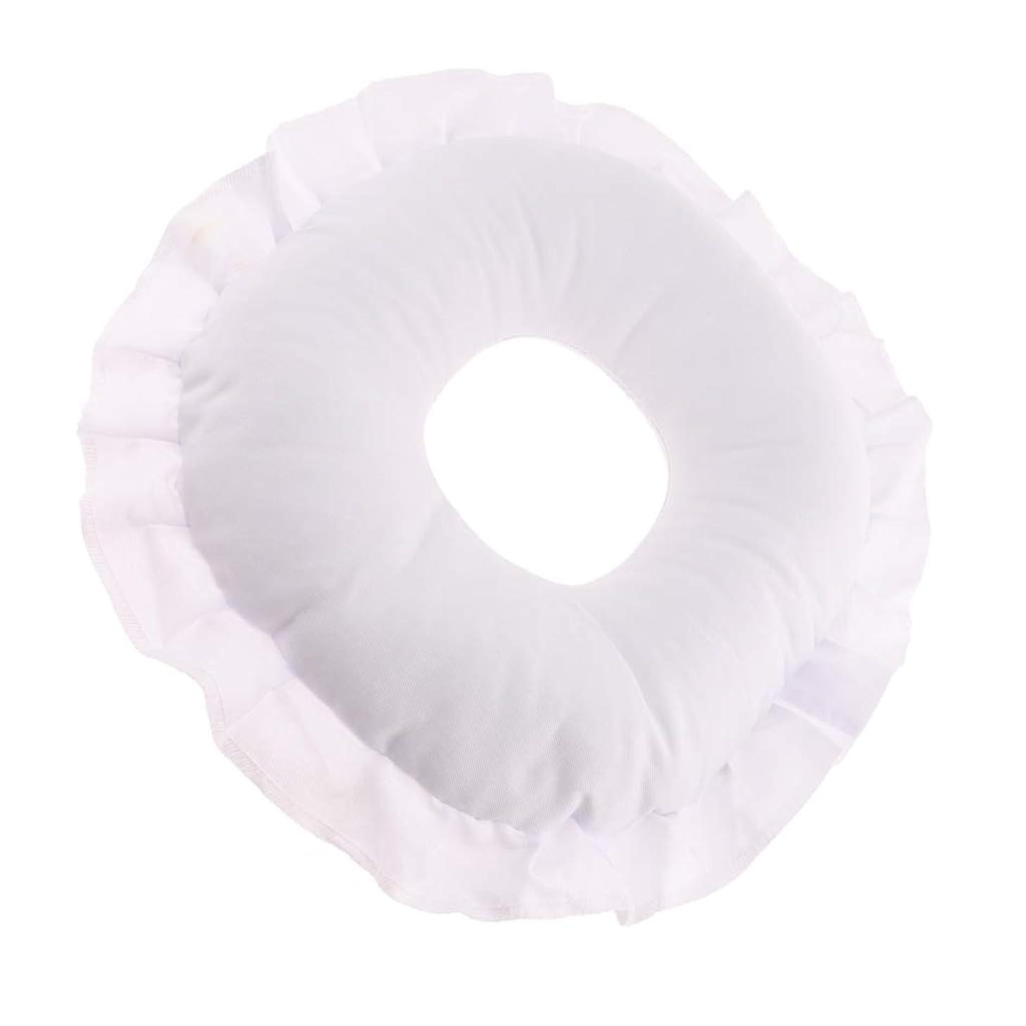 ワイプ啓示独占CUTICATE 全3色 フェイスピロー 顔枕 マッサージ枕 マッサージテーブルピロー 柔軟 洗えるカバー リラックス - 白