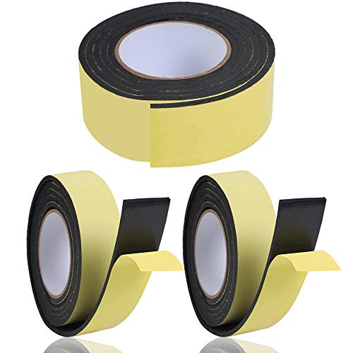 KURASHI 高密度クッション隙間テープ 3本セット 防水 パッキンテープ 防風 防音 雨戸 サッシ 幅25mm 厚み5mm(2m)
