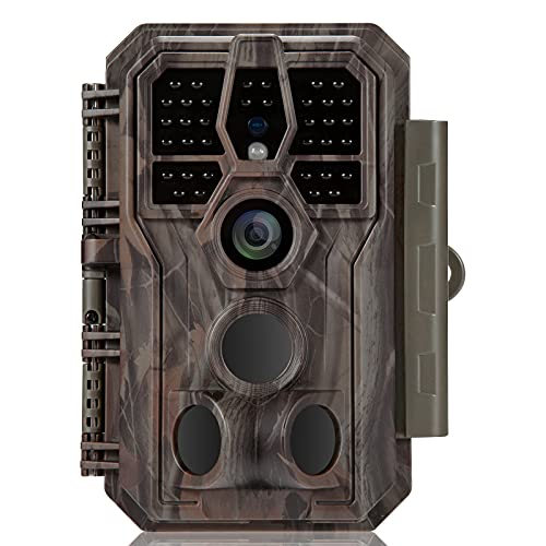 GardePro Trail Camera 24MP 1296P Game Camera with Ultra Fast 0.1S Motion Activated 100ft Night Vision 90ft Detection Distance for Outdoor Wildlife...