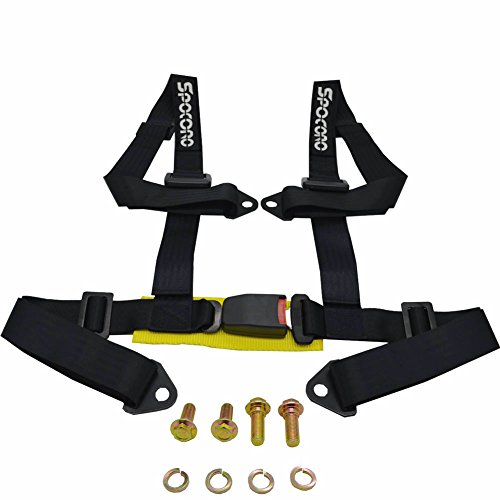 Spocoro SB-0204BLK-BK-1 4 Point Racing Safety Harness Buckle...