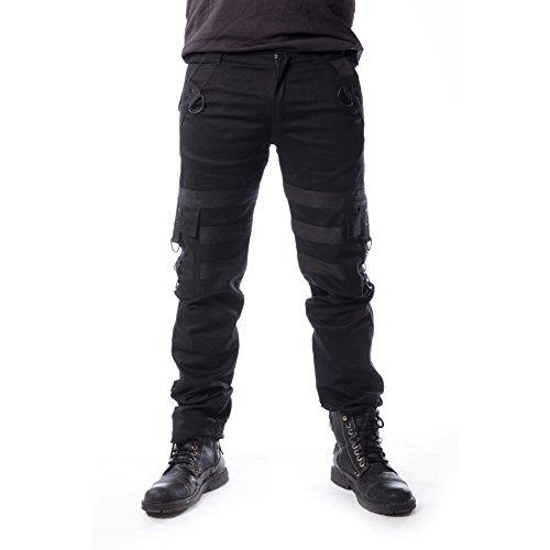 Vixxsin Liam Pants Männer Stoffhose schwarz W33L34 100% Baumwolle Biker, Gothic, Industrial, Rockwear