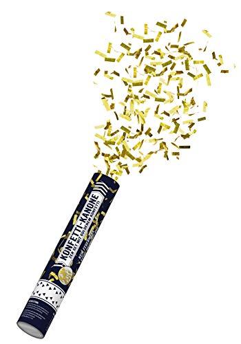 Northpoint Konfettikanone 30cm 4 Stück mit Goldenem Metallic Konfetti 5-8m Effektreichweite Druckluft