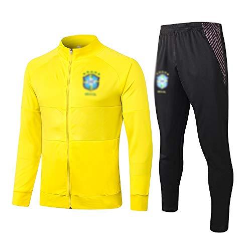TD Fußball-Trainingsanzug Club Jugend Erwachsene Langarm Sweatshirt Atmungsaktiv Jogginganzug Jacke Plus Hose LQ0096 (Größe : L)